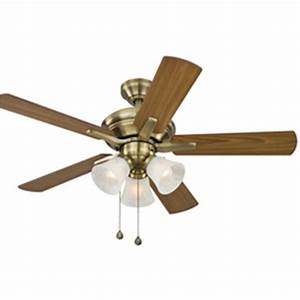 Harbor breeze ceiling fan light kit lowes : Harbor breeze in antique brass ceiling fan with