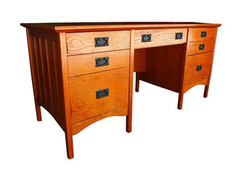 Contemporary Craftsman Mission Style Desk  Chairish. Crate And Barrel Glass Table. Pink Desk Accessories. Luxury Desk Chairs. Sewing Desk Plans. Blackjack Tables. Black Pool Table. Entry Console Table. Small Desks For Bedroom