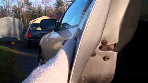 repairing  stuck latch   car door youtube