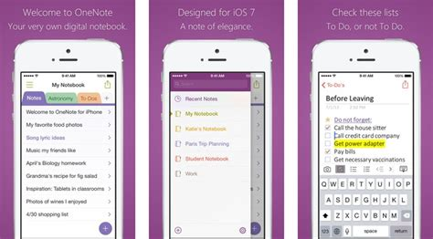 microsoft onenote app gets support for touch id and iphone 6 ability to organize pages more