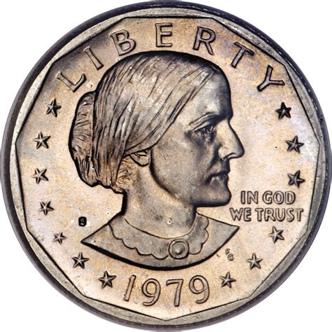 1979 susan b anthony dollar value 1 dollar quot susan b anthony dollar quot united states numista