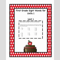 Free Sight Words For First Grade Unit One  Preschool Printables