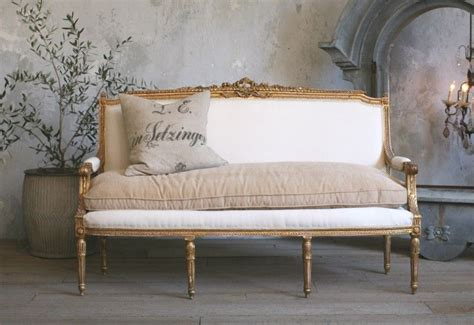 Shabby Chic Settee Furniture by Vintage Shabby Louis Xvi Style Gilt Settee Antique