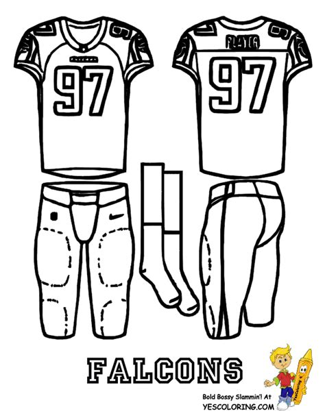 big play nfc football uniform coloring page  nfl