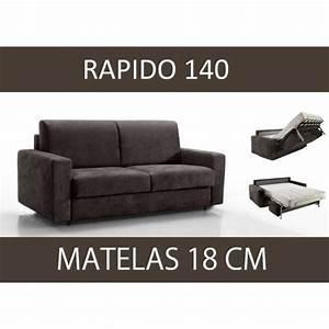 canape convertible 140 rapido matelas 18 cm achat With tapis de marche avec matelas de canapé convertible pas cher