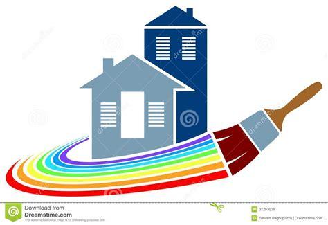 logo chambre logo de peinture de chambre image libre de droits image
