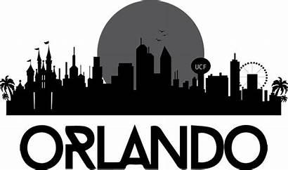 Orlando Skyline Clip Clipart Silhouette Florida San