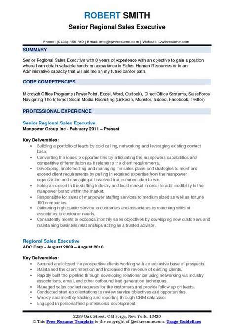 Direct Sales Resume by Regional Sales Executive Resume Sles Qwikresume