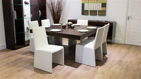 8 seater square wood dining table and chairs funky