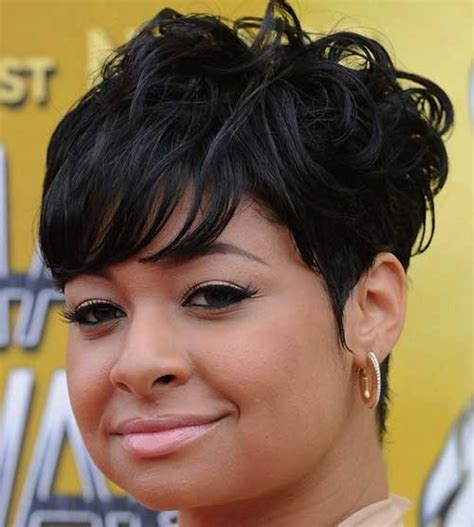 Short Hairstyles For Black Women With Round Faces Short