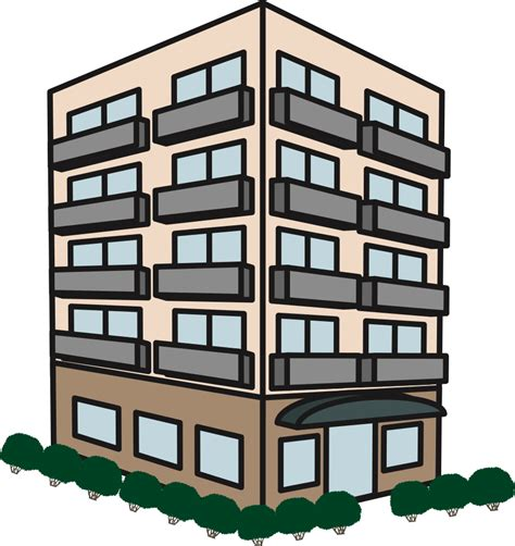 Building Clipart by Onlinelabels Clip Apartment Building