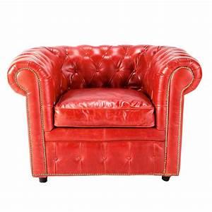 Fauteuil Cuir Maison Du Monde : fauteuil cuir rouge vintage maisons du monde ~ Teatrodelosmanantiales.com Idées de Décoration