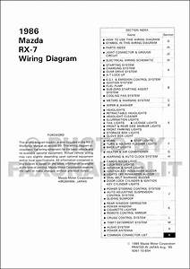 199mazda Rx 7 Wiring Diagram Original Rx7