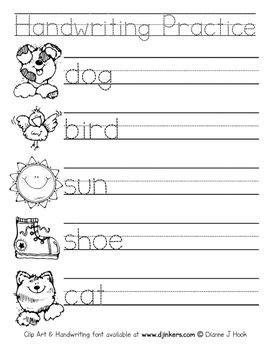 handwriting practice worksheet  images handwriting