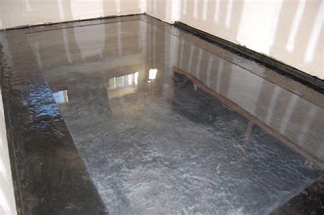 pauls garage metallic epoxy floor stamped slate