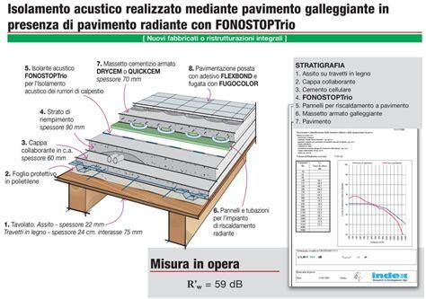 isolamento acustico a pavimento dettaglio stratigrafia isolamento acustico dei pavimenti
