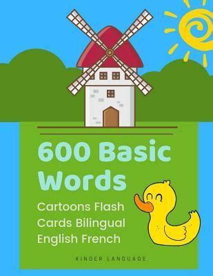 600 Basic Words Cartoons Flash Cards Bilingual English ...