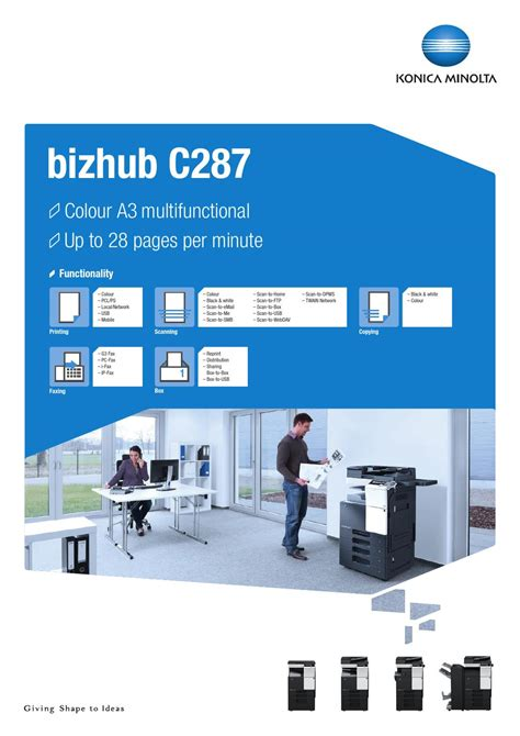Maybe you would like to learn more about one of these? Bizhub C287 Drivers Download - Bizhub C287 Multifunctional Office Printer Konica Minolta - Find ...