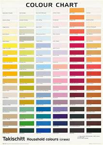 Poster  Art  Comical  Colour Chart - Takischitt