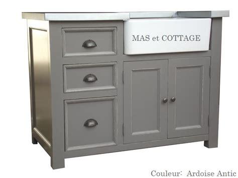 meuble cuisine bois et zinc meuble evier de cuisine dessus zinc