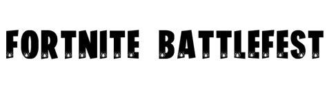 fortnite battlefest font  fonts