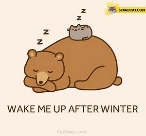 Wake me up after winter Pusheen | StareCat.com