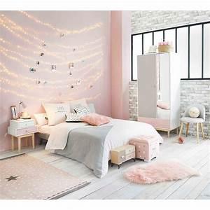 Parure De Lit Rose Et Gris : parure de lit en coton gris et rose 220x240cm linge de maison pinterest maison du monde ~ Teatrodelosmanantiales.com Idées de Décoration