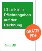 Pflichtangaben Rechnung Checkliste : downloads umsatzsteuer ~ Themetempest.com Abrechnung