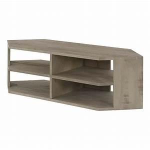 Meuble De Tele D Angle : meuble t l d 39 angle 140 cm mykub inwood achat vente meuble tv meuble t l d 39 angle 140 cm ~ Nature-et-papiers.com Idées de Décoration