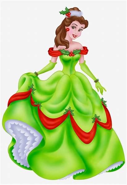 Disney Belle Princess Christmas Clipart Princesses Clip