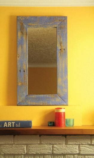 rustic reflections simple mirror frame   weathered