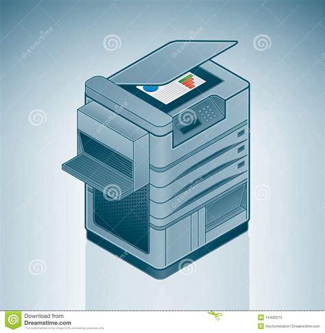 imprimante de bureau grande imprimante laser de bureau illustration de vecteur
