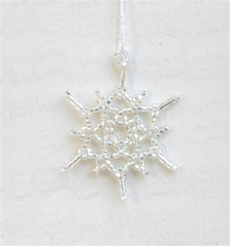 silver snowflake ornament wedding decoration on luulla