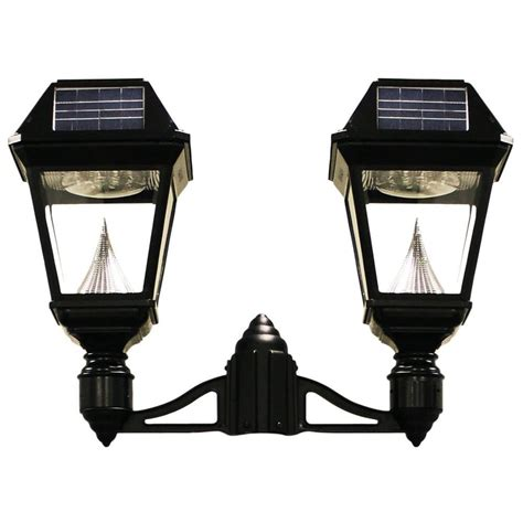 solar led outdoor l post hton bay solar copper outdoor led post light 2 pack