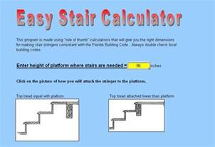 Free Deck Stringer Calculator by Stair Stringer Calculator Software Greenhomes Helping