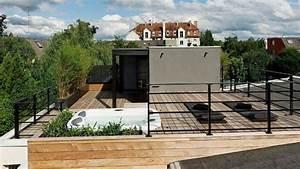 toit terrasse bois amenager son toit en terrasse a vivre With amenager un toit terrasse