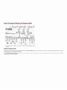 Learn To Interpret Single Line Diagram  Sld