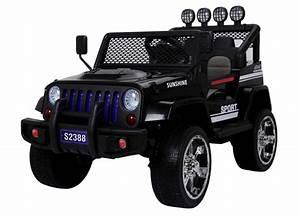 Kit Voiture Electrique A Monter : 12 volts jeep monster 4 roues motrices voiture enfant electrique ~ Medecine-chirurgie-esthetiques.com Avis de Voitures