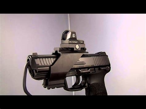 heckler koch hk  auto leupold deltapoint red dot sight mount youtube