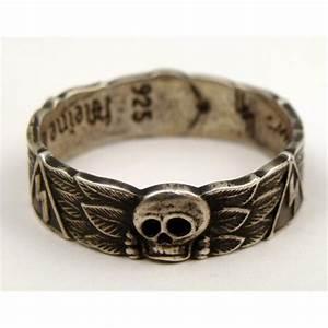 reproduction ss wedding ring with skull swatiska runes With ss wedding ring