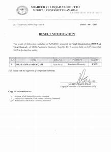 Result Notification