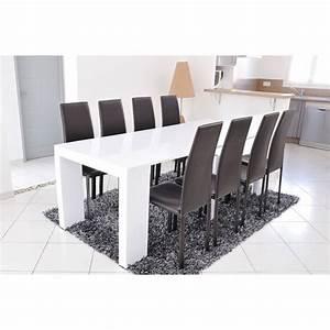 Table Blanc Laqué Extensible Ikea : zack table manger extensible 4 12 personnes 45 90 135 180 225x90 cm laqu blanc achat ~ Nature-et-papiers.com Idées de Décoration