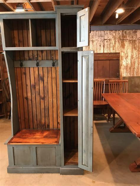 small hall tree  side cabinet furniture   barn
