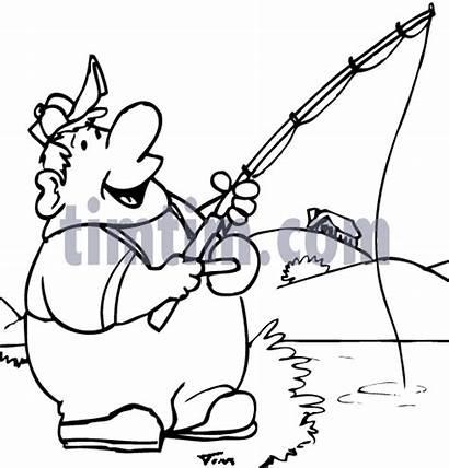 Fishing Clipart Guy Fat Drawing Boat Hunting