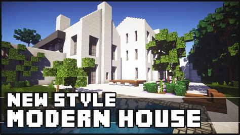 Minecraft  New Style Modern House Youtube