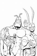 Tick Arthur Coloring Comic Cartoon Comics Covers Characters Line Lineart Manga Ticks Cov sketch template
