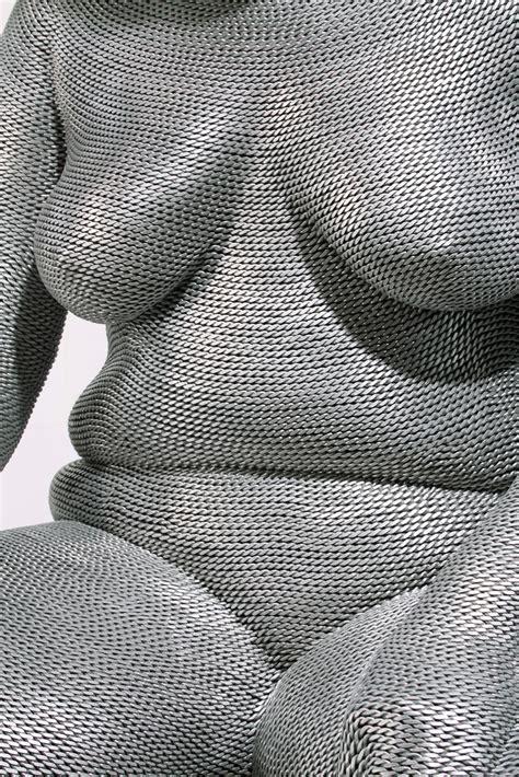 aluminum wire sculptures  seung mo park  dna life
