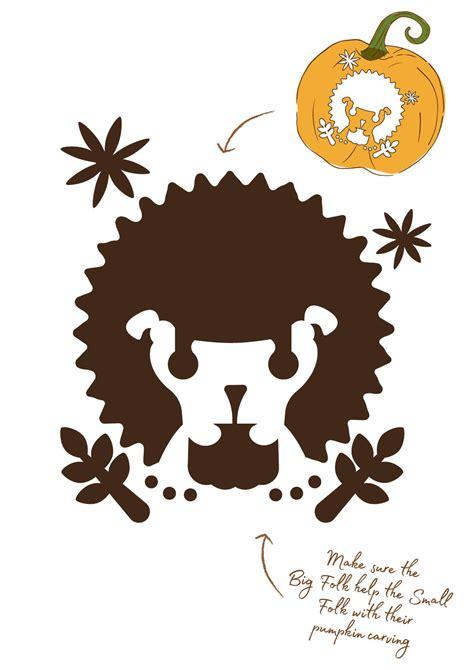 Lion Pumpkin Lamp Stencil Lion Stencil Folk Magic Stencils