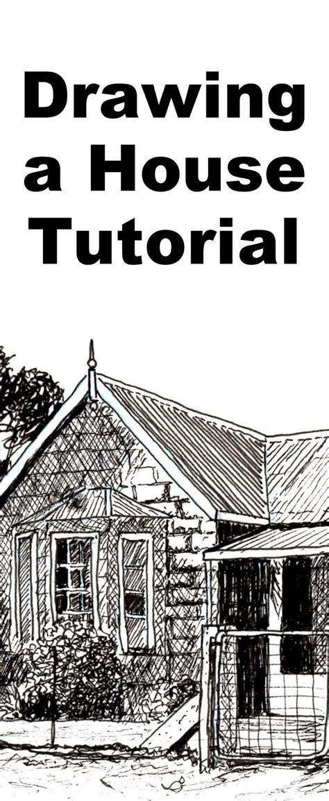 draw  farmhouse    ink