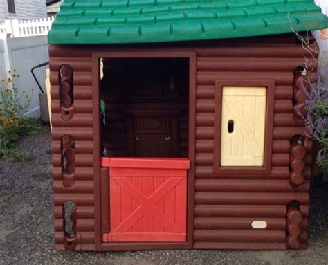 tikes log cabin playhouse used vintage tikes log cabin playhouse in oyster bay